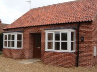 We built these bay windows on an existing house in Norfolk