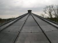 Leadwork on a binnacle roof in Burnham Market.